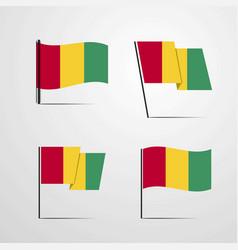 Guinea waving flag set design vector