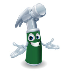 Hammer cartoon mascot vector