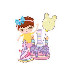 happy birthday girl cartoons vector image