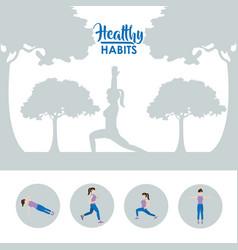 Healthy habits woman vector