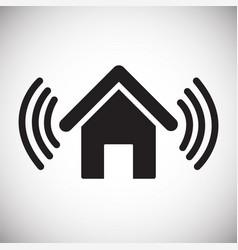 House alarm on white background vector