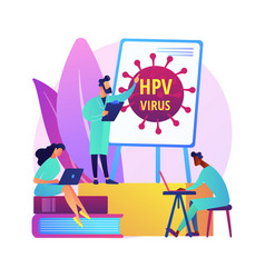hpv education programs abstract concept vector image