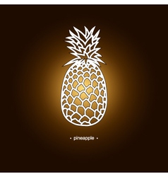 Image pineapple in the contours vector