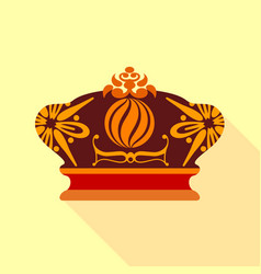 Imperial crown icon flat style vector