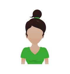 Kid teen girl avatar faceless vector