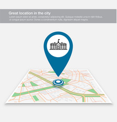 location map school on city map vector image