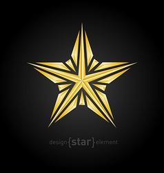 luxury broken golden star on black background vector image