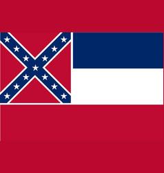 Mississippi state flag vector