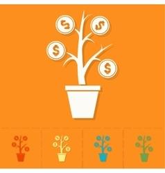 Money flower vector