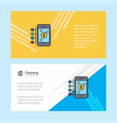Money through smartphone abstract corporate vector