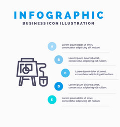 Mouse online board education blue infographics vector