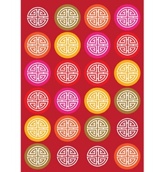 Ornate circles background vector