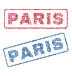 Paris textile stamps vector