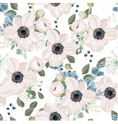 Pattern floral watercolor style design vector