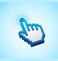 pixel computer cursor push button sign vector image