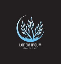 plant logo design vector image