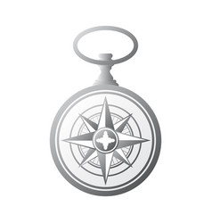 pocket watch windrose gradient vector image