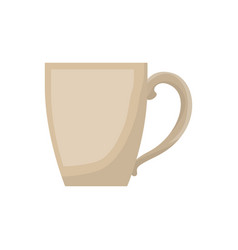 porcelain mug of coffee with handle in realistic vector image