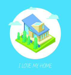 private modern family cottage or house for real vector image