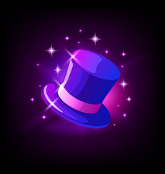 purple cylinder hat slot icon for online casino vector image