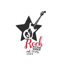 Rock club logo est 1976 design element vector