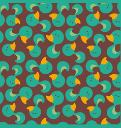 Seamless pattern duck vector