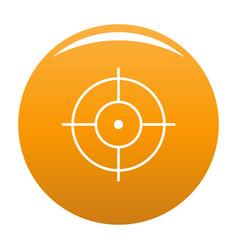 Shooting icon orange vector