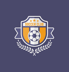 Soccer sport team isolated emblem vector