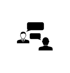 speaking people talking chat flat icon vector image