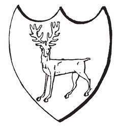 Statant guardant attitude of a beast in heraldry vector