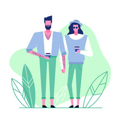 subculture flat characters 5 vector image