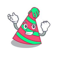 Successful party hat character cartoon vector