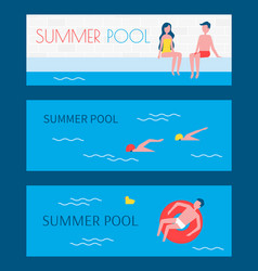 summer pool swimming basin vector image