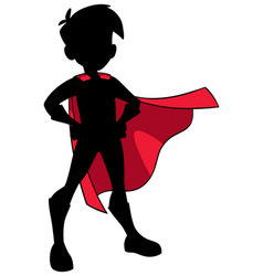 super boy silhouette vector image