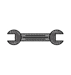 tool wrench repair mechanic equipment icon vector image