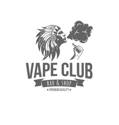 vape badges vector image