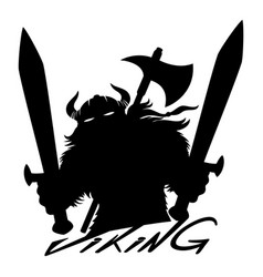 viking sign with swords vector image