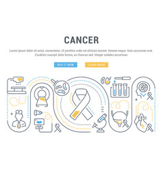 website banner and landing page cancer vector image