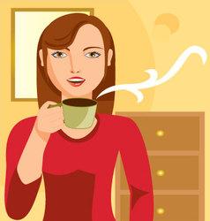 Woman-drinking-coffee vector