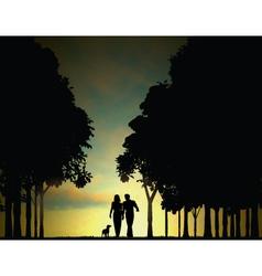 woodland walkers vector image