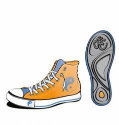 Yin Yang shoe vector image vector image