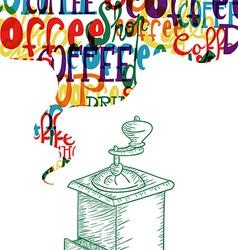 Cute coffee vintage design concept vector image