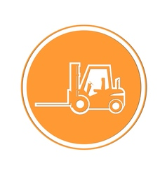 Forklift icon vector image vector image