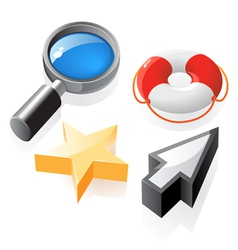 Isometric icons interface elements vector image vector image