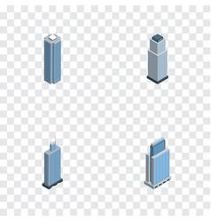 Isometric skyscraper set of urban skyscraper vector
