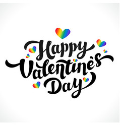 lgbt community happy valentines day design 14th vector image vector image