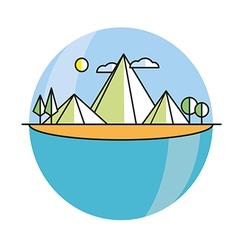 Line island in color vector image vector image