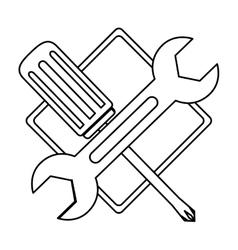 technical workshop stock emblem icon vector image