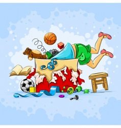 child and toys vector image vector image