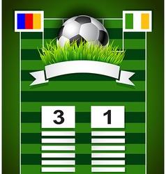 Football scoreboard design on field vector image
